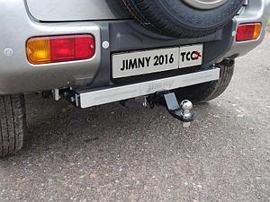 Фаркоп (оцинкованный, надпись Jimny, шар E нерж.), Suzuki Jimny 2012-