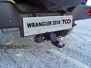 Фаркоп (оцинкованный, шар E нерж.), Jeep Wrangler 5D (2.0T, JL) 2018-