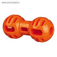 Игрушка Trixie Soft & Strong «Гантель», TPR, 14 см, оранжевый