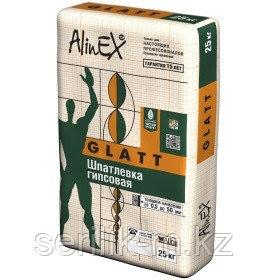 ALINEX-GLAT-(ГЛАТ) Гипсовая шпатлевка.25КГ, фото 2