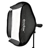 Софтбокс (рассеиватель) Godox 80х80 SFUV8080 Bowens для накамерных вспышек, фото 1