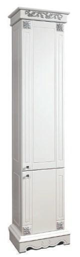 Шкаф «2Д Амелия 1» (490х2040х340) (СЕРЕБРО)