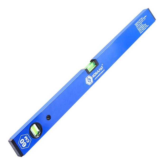 Уровень строительный КОБАЛЬТ Оптима, 600 мм, профиль 20 x 49 мм, 2 глазка, точность 1,0 мм/м, шт