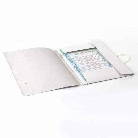 Папка для бумаг картонная  А4 на завязках