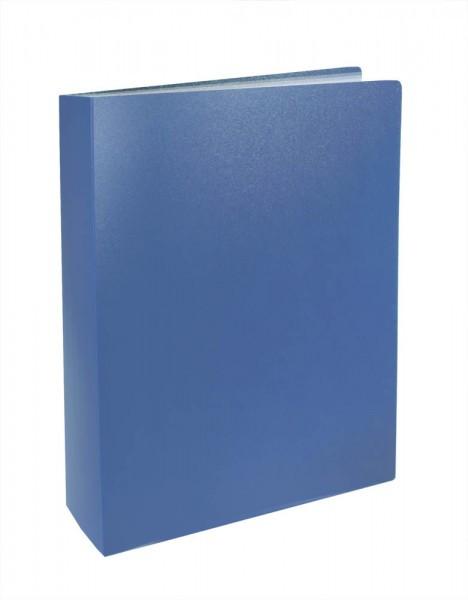 Папка с файлами 100ф.А4 BASIC 64мм.цв.синий
