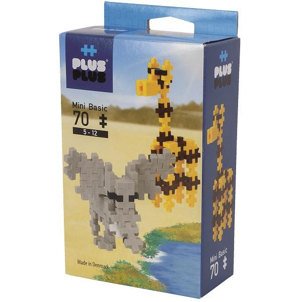 Игрушка Plus Plus Разноцветный конструктор для создания 3D моделей (сафари коричневый)