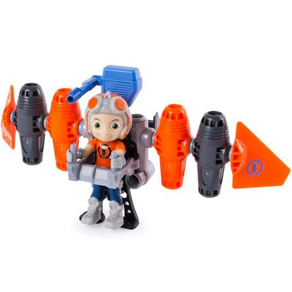 Игрушка Rusty Rivets (Расти - механик) Строительный набор большой с фигуркой героя Jetpack