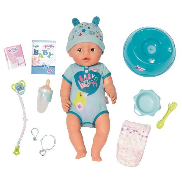 Игрушка BABY born (Бэби Борн) Кукла-мальчик Интерактивная, 43 см, кор.
