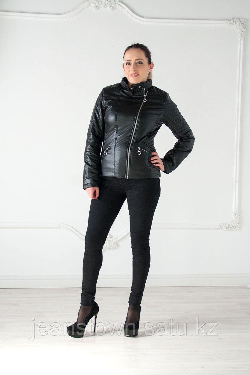 Куртка женская черная Tarore, экокожа