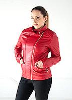Куртка женская красная Tarore экокожа