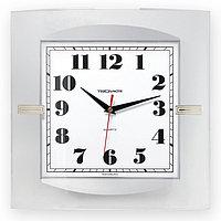 Часы 320х320мм, квадратные, белые, минеральное стекло Часпром