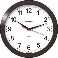Часы d-290мм, круглые, белые, черный корпус, минеральное стекло Часпром