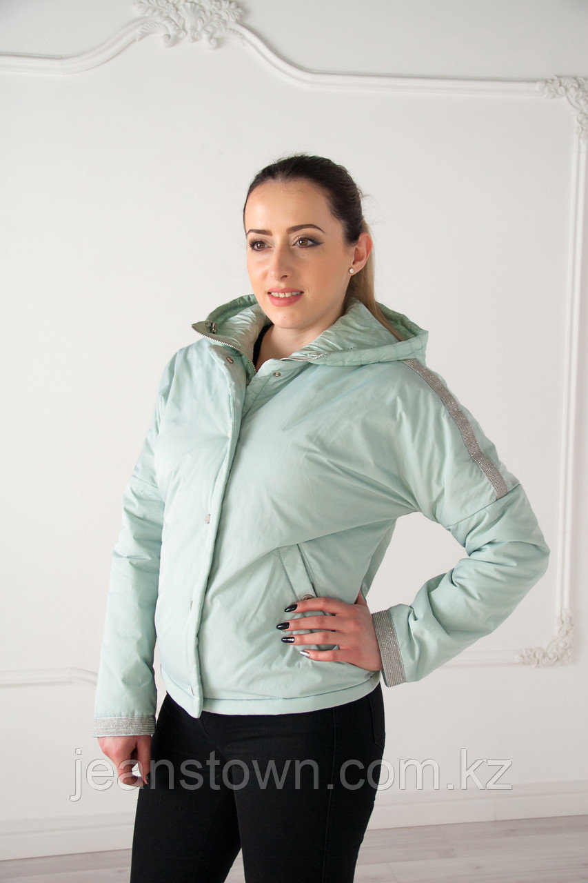 Куртка женская EVACANA короткая, светло-зеленая