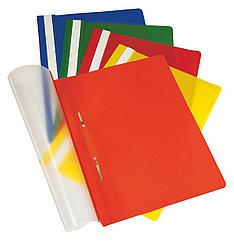 Скоросшиватель с прозрачным верхним листом, А4, разные цвета