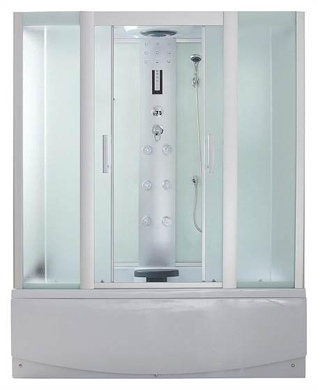 Душевая кабина ER4515TP-C3 1500*800*2200 высокий поддон, светлое стекло