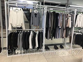 Рейлы, вешало, вешала для одежды, оборудование для бутиков, торговое оборудование, напольная витрина