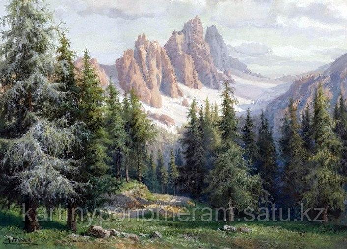 "Картина стразами на подрамнике (50х60 см)""Горы"" MYL-139"