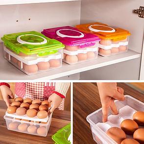 Уценка! Контейнер для хранения яиц (24 шт.), цвет розовый, фото 2