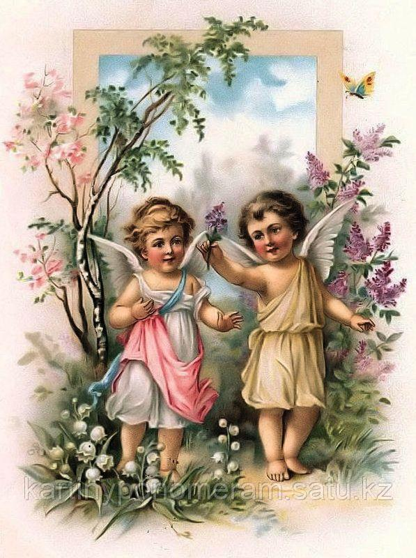 "Картина стразами на подрамнике (50х60 см)""Ангелы"" MYL-118"