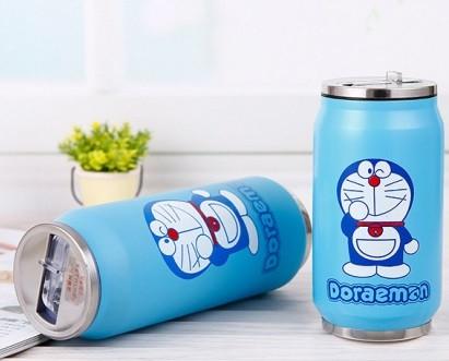 Термос из нержавеющей стали Doraeman с трубкой