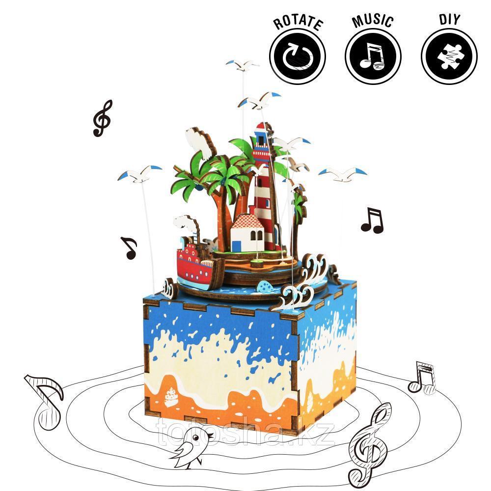 """Музыкальная шкатулка Robotime """" Vocational Island Остров желаний """""""