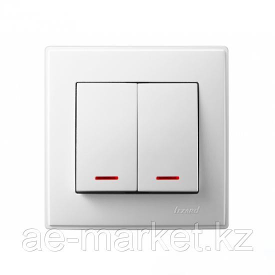 Выключатель двойной с подсветкой