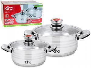 Набор посуды 2пр (2.3л и 4.2л) ADAGIO терморегулятор, индукционное дно