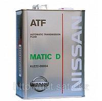 Трансмиссионное масло NISSAN Matic Fluid D KLE22-00004 4литра