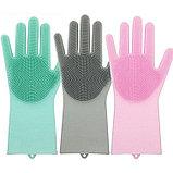 Перчатки для мытья посуды с насадками-щетками, фото 2