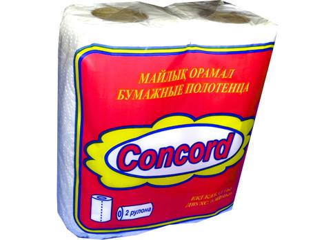 Полотенца бумажные Concord 2-слойные