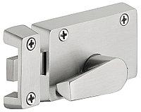 Шпингалет для туалетной комнаты с индикатором, 68х41 мм, нержавеющая сталь