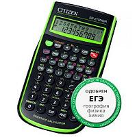 Калькулятор инженерный 10+2разрядов, 236 функций, 8.0x14.8см, черный-зеленый Citizen