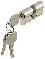 Двухцилиндровый, стандартный профиль, разные ключи, Startec, 27/50 мм