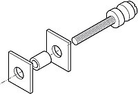 Монтажный набор, нержавеющая сталь, Startec, для дверной ручки Cosimo, 67-84 мм