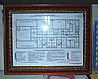 Изготовление планов эвакуации в деревянной рамке