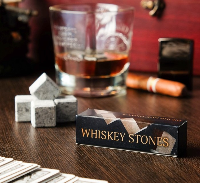 """Камни для виски """"Whiskey stones"""", 4 шт 1230420"""