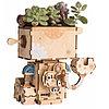 """Деревянный цветочный горшок Robotime """" Robot Робот """", фото 4"""