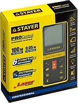 Дальномер PRO-Control лазерный, дальность 100м, точность 2мм, STAYER Professional 34959, фото 2
