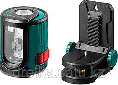 Нивелир лазерный линейный KRAFTOOL CL20 #2, держатель с микролифтом ММ1, 20м, IP54, точн. 0,2 мм/м