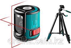 Нивелир лазерный линейный KRAFTOOL CL20 #3 , элевационный штатив (39-120см), чехол, 20м, IP54, точн. 0,2 мм/м