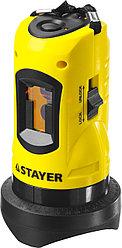 Нивелир лазерный линейный SLL-1, STAYER 34960, дальность 10м, точн. +/-0,5 мм/м