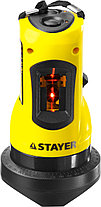 Нивелир лазерный линейный SLL-1, STAYER 34960, дальность 10м, точн. +/-0,5 мм/м, фото 2