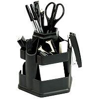 """Настольный органайзер Erich Krause """"Офисный Fregatte"""", 13 предметов, вращающийся, черный, фото 1"""