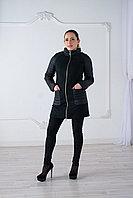 Куртка женская демисезонная Evacana длинная, черная