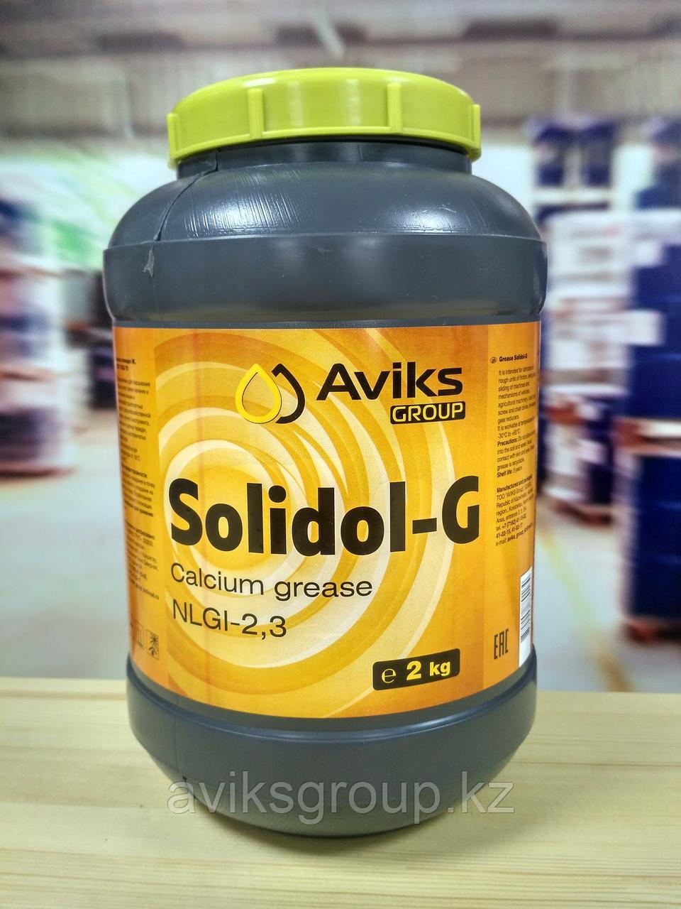 Смазка Солидол Ж , баночка 2 кг