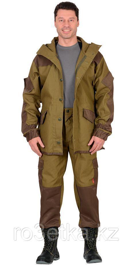 "Костюм ""-Горка"" куртка, брюки (п-но палаточн.+отделка тк.Кроун) Хаки"