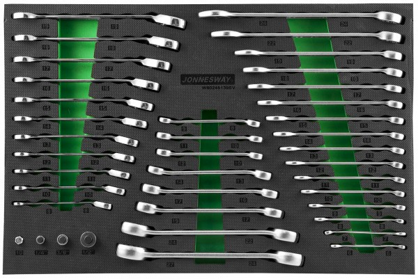 (W60246139SV) Набор ключей гаечных и адаптеров в EVA ложементе 560х400 мм, 39 предметов W106246139SV