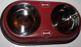 Миска двойная для собак на подставке, 2Х14 см