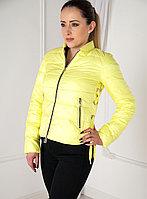 Куртка демисезонная Evacana короткая,желтая