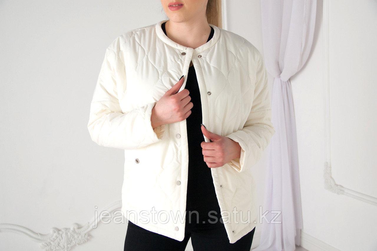 Куртка женская демисезонная Evacana короткая,белая
